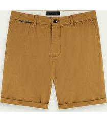 scotch & soda pima cotton chino shorts