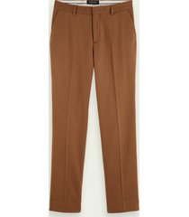 scotch & soda relaxed fit chino van een wolmix
