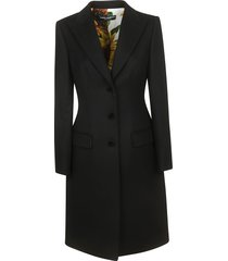 dolce & gabbana single breasted long coat