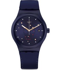 reloj automático azul swatch