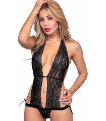 babydoll woman sexy 2014 lenceria ropa interior mujer - negro