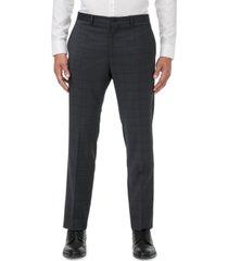 armani exchange men's modern-fit dark gray windowpane suit separate pants