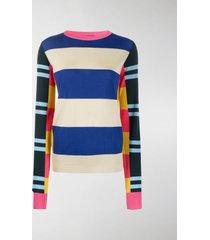colville long sleeve block stripe sweater