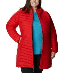 columbia plus size quilted midi jacket