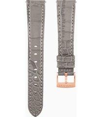 cinturino per orologio 17mm, grigio talpa, placcato color oro rosa