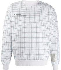 a-cold-wall* grid-print sweatshirt - grey