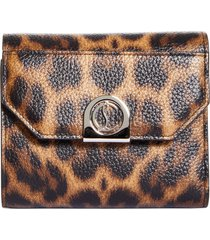 women's christian louboutin elisa croc embossed leather wallet -