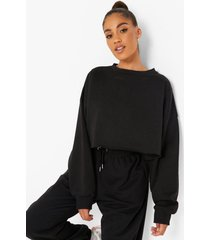 gerecyclede korte sweater, black