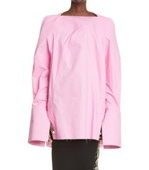 women's rick owens collage cotton tunic, size 8 us - pink