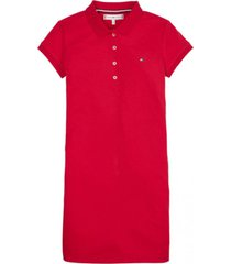 vestido polo essential rojo tommy hilfiger