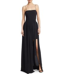 gianni high-low fit-&-flare gown
