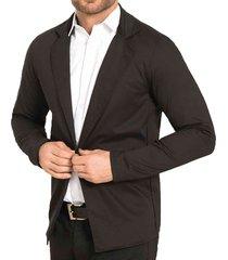blazer gerardo negro para hombre croydon