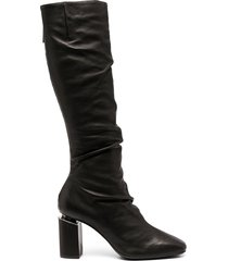 vic matie ruched mid-calf boots - black