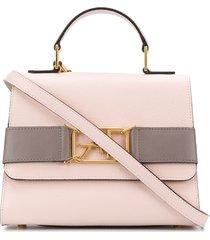 alberta ferretti logo buckle crossbody bag - pink