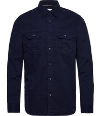 gmd twill utility reg shirt overhemd casual blauw calvin klein jeans
