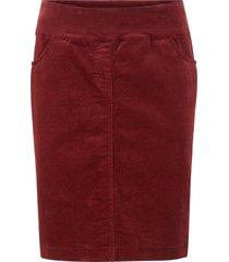 gonna in velluto elasticizzato con baschina (rosso) - bpc bonprix collection