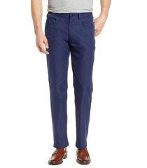 men's peter millar five-pocket performance pants, size 42 x 32 - blue