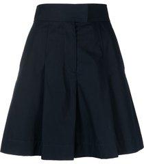 a.p.c. diane wide-leg cotton shorts - blue
