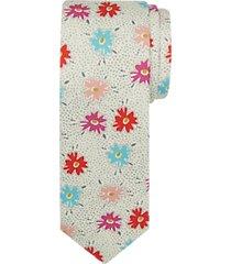 paisley & gray skinny tie multicolor floral