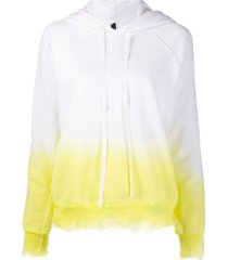 unravel project gradient distressed hoodie - white