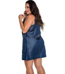 vestido jumper tencel azul oscuro