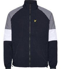 gingham mix track jacket dun jack blauw lyle & scott