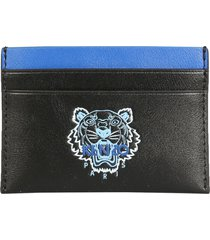 kenzo card holder with tiger print