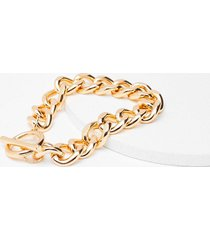 womens in chain sight chunky bracelet - gold