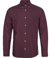 d1.winter twi buffalo check reg bd overhemd casual rood gant