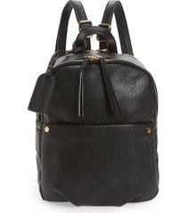 sole society siena faux leather backpack - black