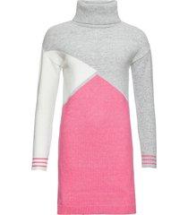 abito in maglia a collo alto (grigio) - bodyflirt boutique