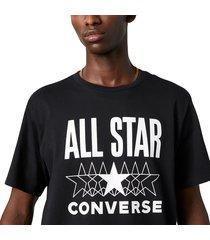converse camiseta de manga corta all star black