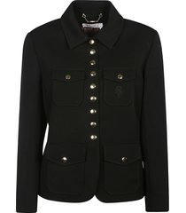 multi-pocket buttoned jacket