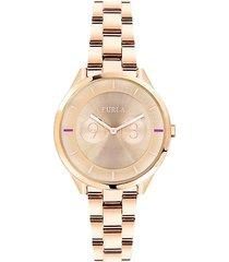 metropoli rose gold stainless steel watch