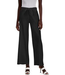 inc petite tie-front wide-leg pants, created for macy's