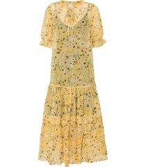abito midi a fiori (giallo) - rainbow