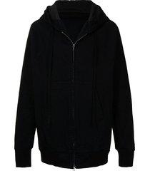 julius loose-cut bomber jacket - black
