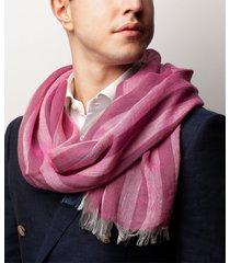 sciarpa da uomo, maalbi, lino righe rosso, primavera estate | lanieri