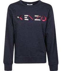 kenzo classic logo fit sweatshirt