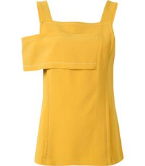 3.1 phillip lim side panel blouse - yellow