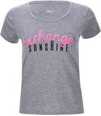 camiseta descanso sunshine color gris, talla l