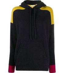 chinti and parker x issimo colour-blocked cashmere hoodie - blue