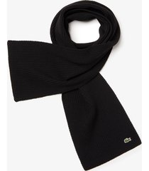 lacoste ribbed croc scarf |black| re4212-031