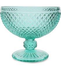 conjunto 6 taças de vidro para sobremesa bico de jaca 300ml – linha turquesa