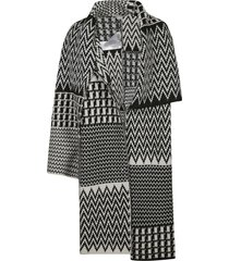 stella mccartney multi-patterned cape