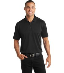 port authority k569 diamond jacquard polo shirt - black