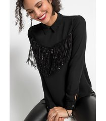 blouse met pailletten