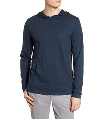 men's threads 4 thought pullover hoodie, size medium - blue