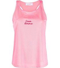 giada benincasa ciao amore mesh vest - pink