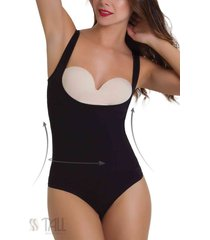 body busto libre invisible tanga negro tall